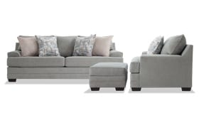 Harmony Sea Foam Blue Sofa, Chair & Storage Ottoman