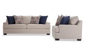 Harmony Beige Sofa & Loveseat