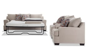 Harmony Beige Bob-O-Pedic Queen Sleeper Sofa & 2 Chairs