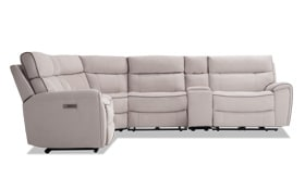 Contempo 6 Piece Power Reclining Left Arm Facing Sectional