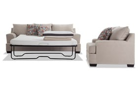 Harmony Beige Bob-O-Pedic Queen Sleeper Sofa & Chair