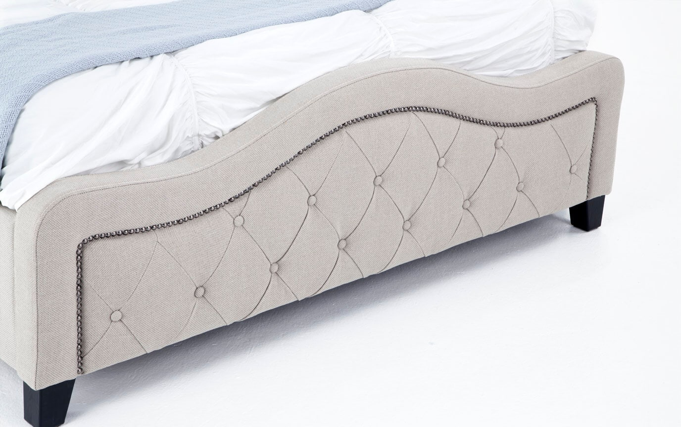 Troy Queen Taupe Bed