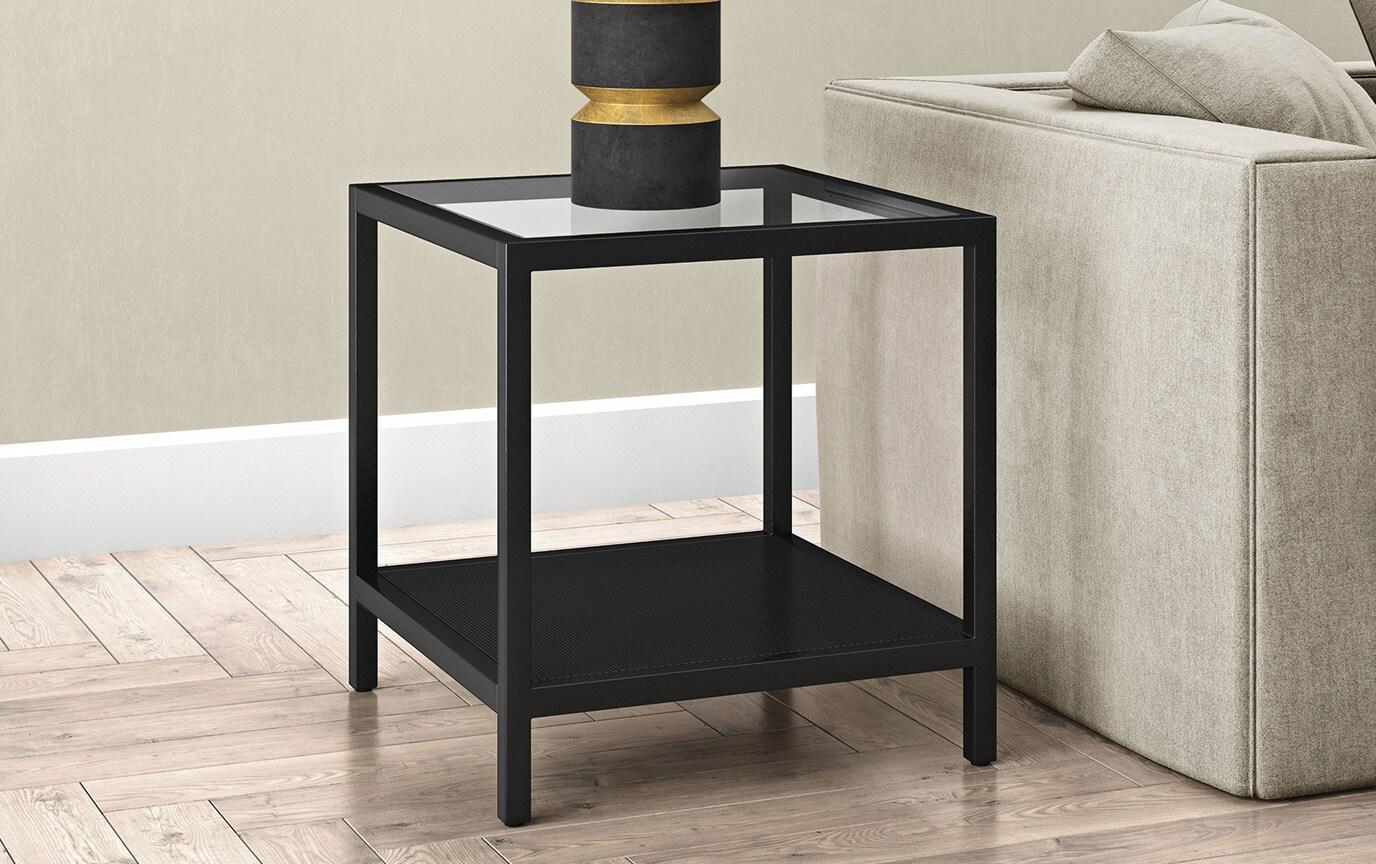 Evangeline Blackened Bronze Side Table