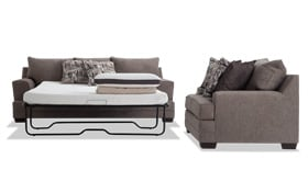 Harmony Gray Bob-O-Pedic Queen Sleeper Sofa & Loveseat