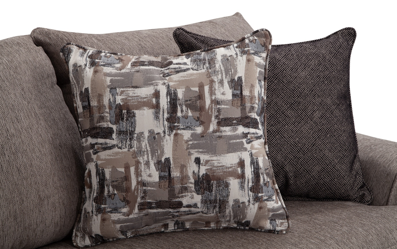 Harmony Gray Bob-O-Pedic Queen Sleeper Sofa & 2 Accent Chairs