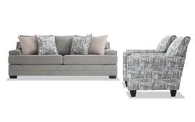 Harmony Sea Foam Blue Sofa & 2 Accent Chairs