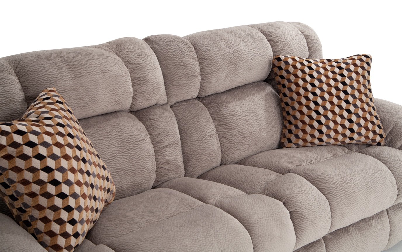 Frank Gray Lay-Flat Reclining Sofa