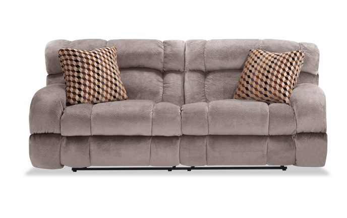 Frank Gray Lay Flat Reclining Sofa