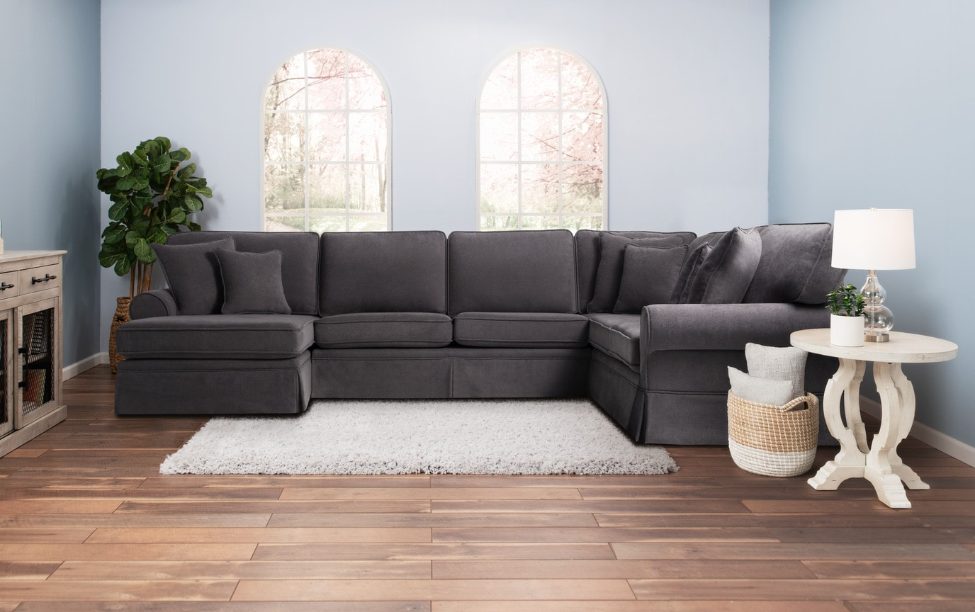 Katie Charcoal 4 Piece Right Arm Sectional Bobs Com