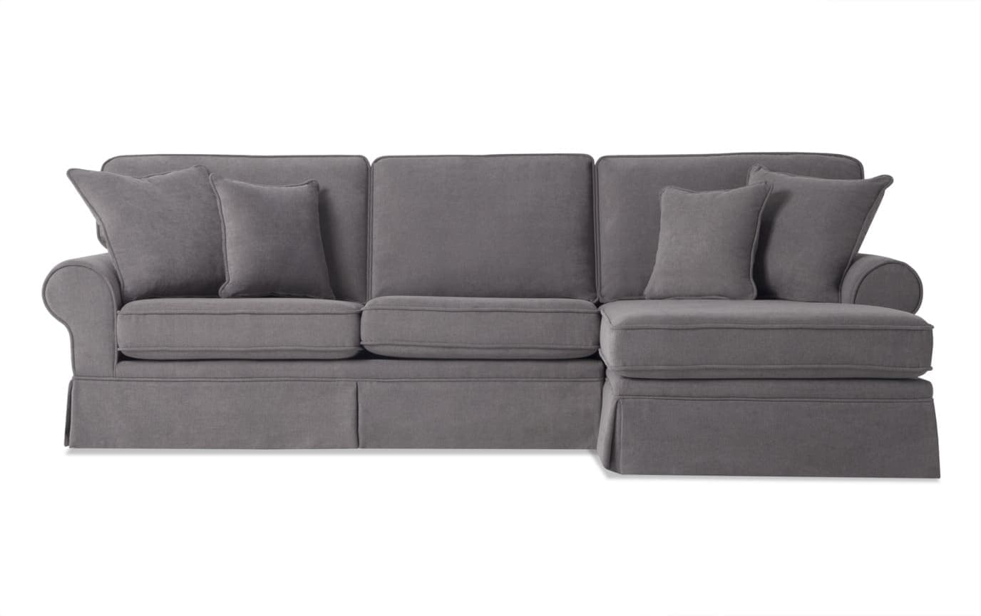 Katie Charcoal 2 Piece Left Arm Facing Sectional
