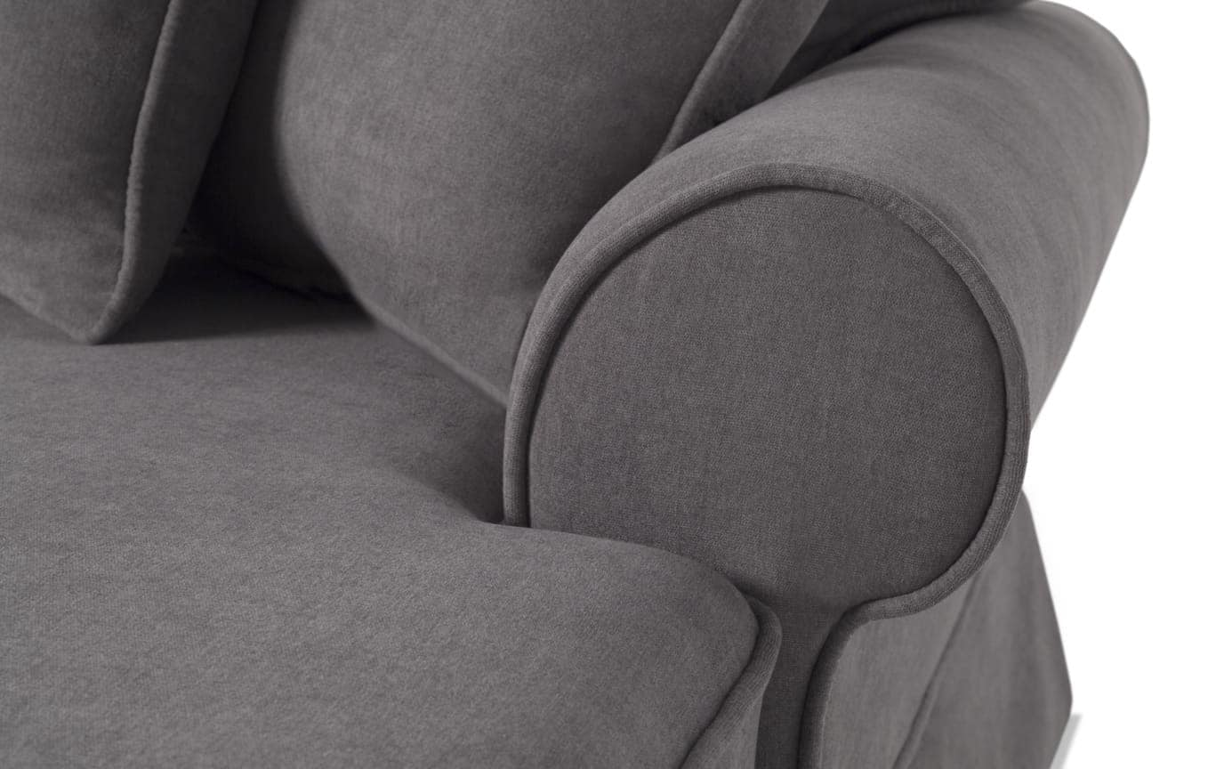 Katie Charcoal 4 Piece Left Arm Facing Sectional