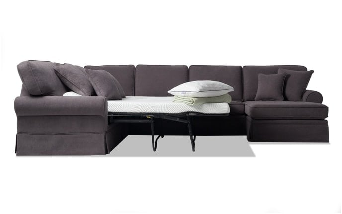 Katie 4 Piece Bob-O-Pedic Gel Left Arm Facing Sleeper Sectional