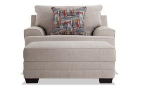 Harmony Beige Chair & Storage Ottoman