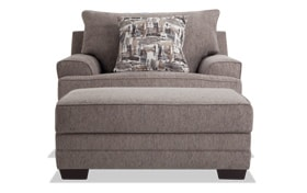 Harmony Gray Chair & Storage Ottoman