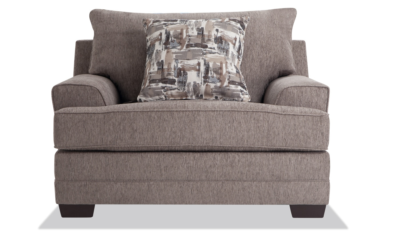 Harmony Gray Chair & Storage Ottoman