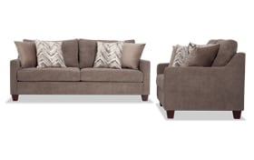 Serene Taupe Sofa & Loveseat