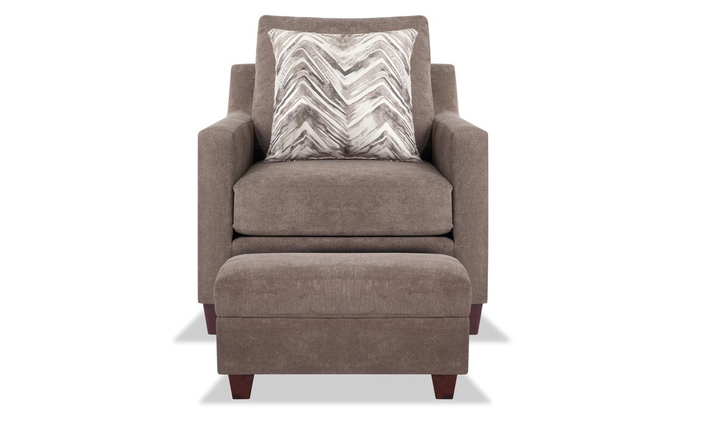 Serene Taupe Sofa, Chair & Storage Ottoman