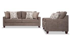 Serene Taupe Sofa & 2 Chairs