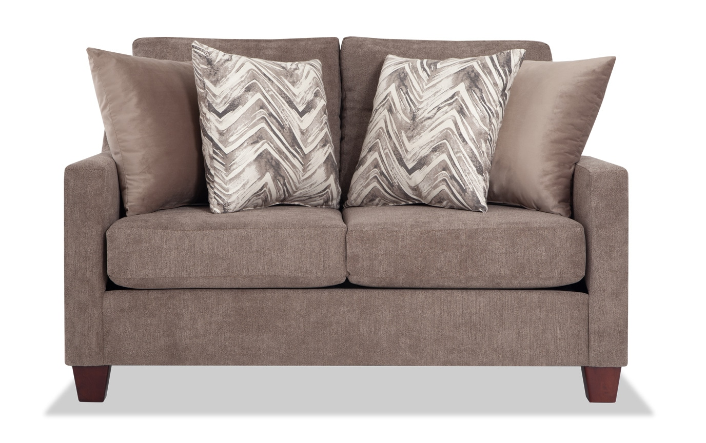 Serene Taupe Loveseat Set