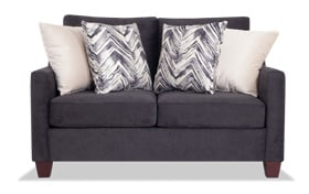 Serene Black Loveseat