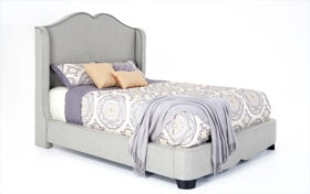 Lisa Upholstered King Bed