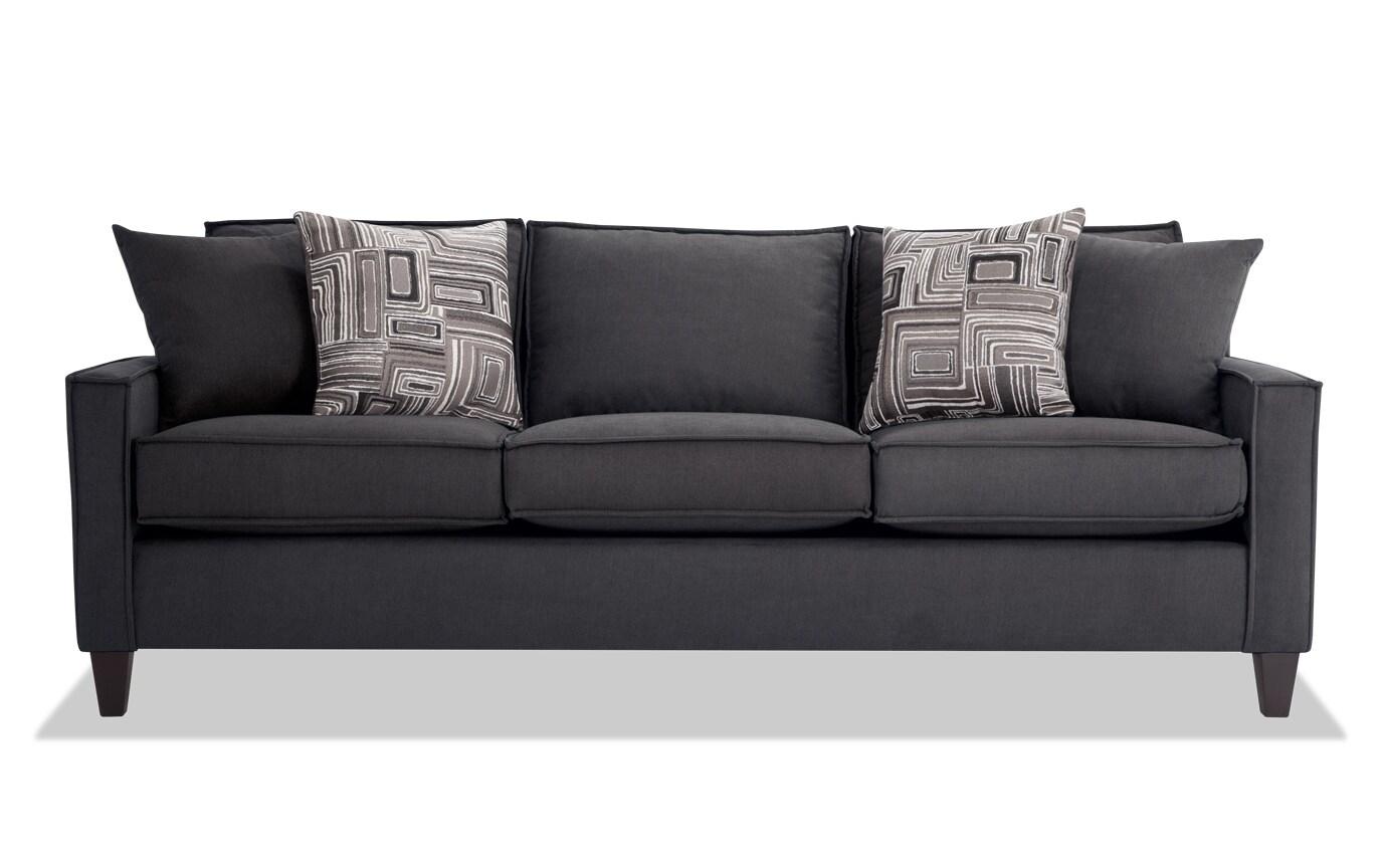 Jessie 88'' Gray Sofa