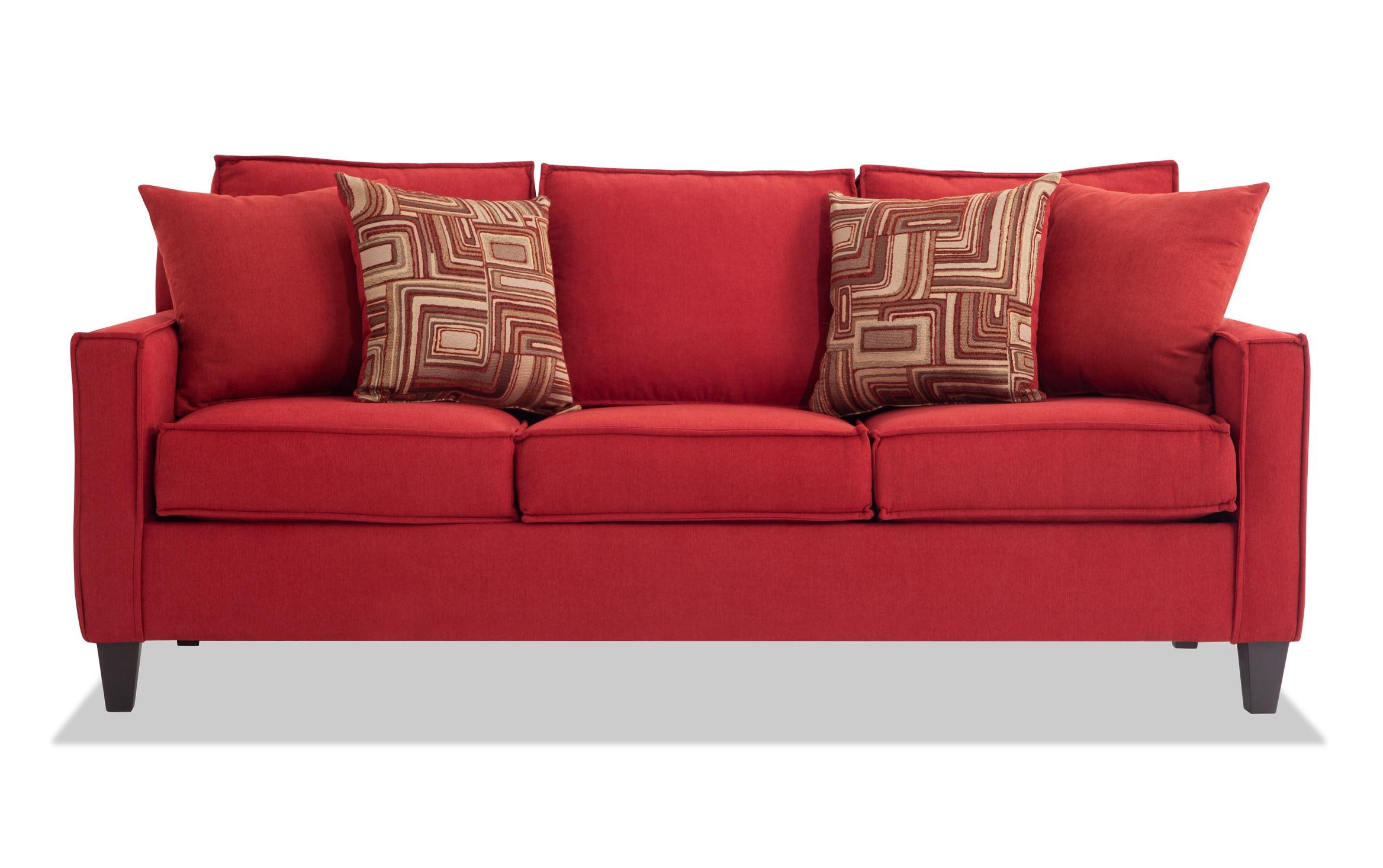 Jessie 80 Red Sofa Bobs