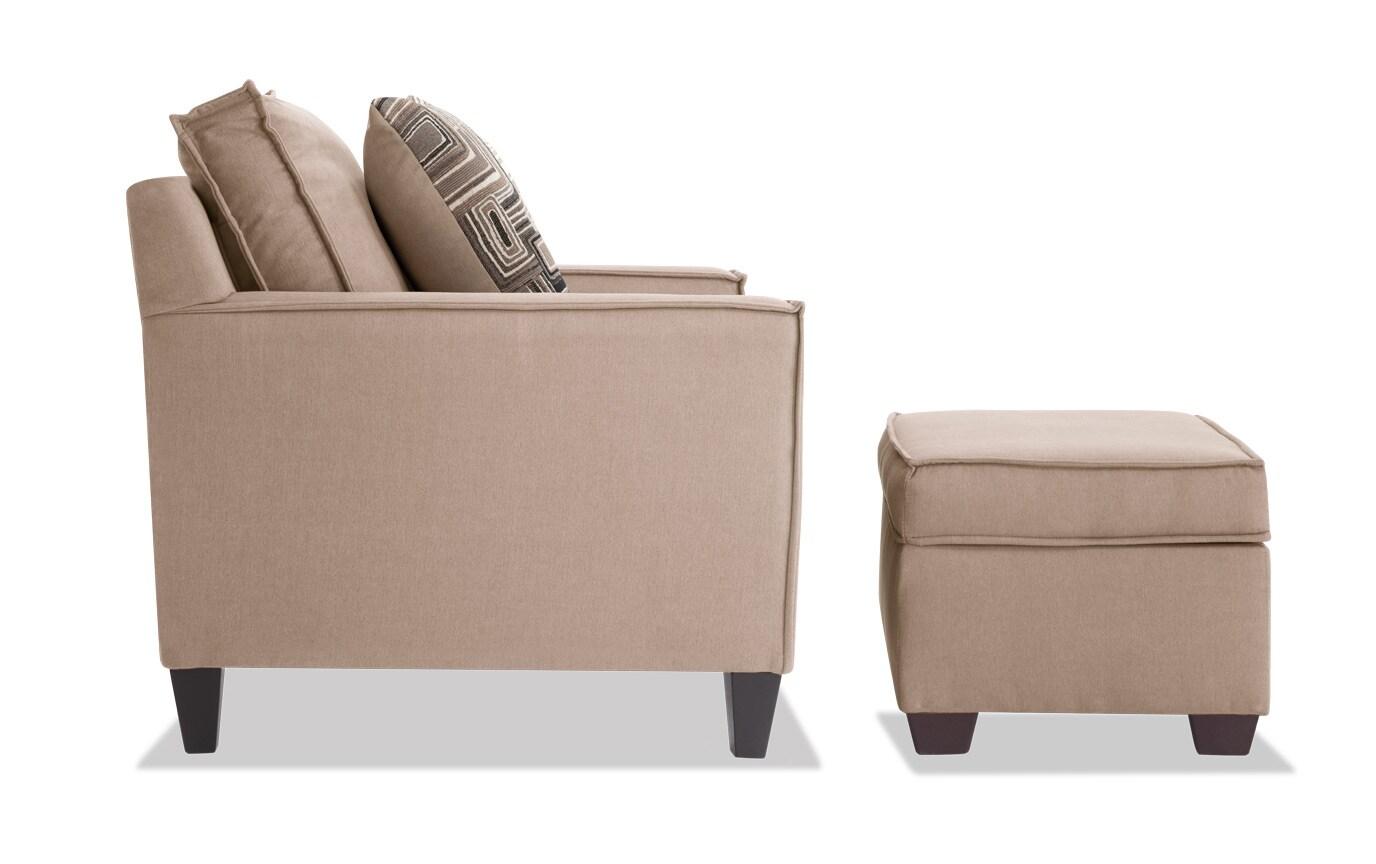 Jessie 88'' Beige Sofa, Chair & Storage Ottoman