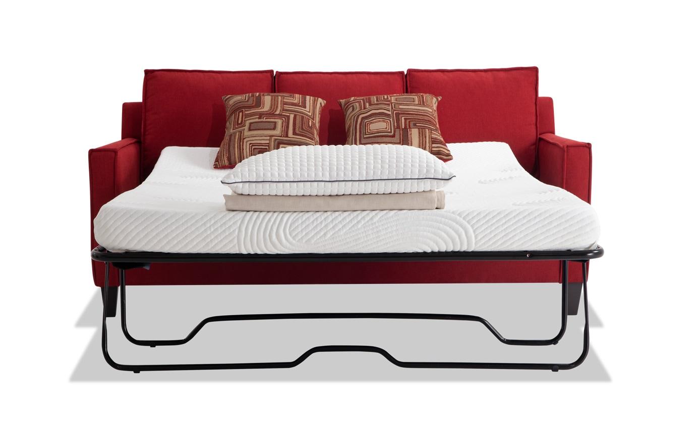 Jessie 72'' Red Bob-O-Pedic Gel Full Sleeper Sofa