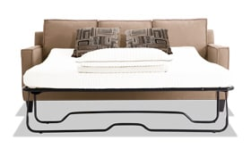 Jessie 80'' Beige Bob-O-Pedic Gel Queen Sleeper Sofa