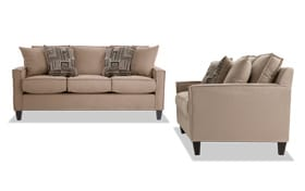 Jessie 88'' Beige Sofa Set