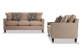 Jessie 80'' Beige Sofa Set