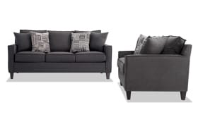 Jessie 80'' Gray Sofa Set