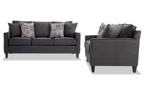 Jessie 72'' Gray Sofa Set
