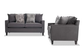 Jessie Gray Loveseat Set
