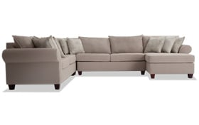 Ashton Khaki 4 Piece Left Arm Facing Sectional