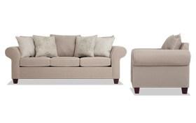 Ashton Khaki Sofa & Chair
