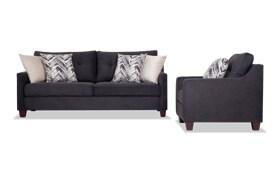 Serene Black Sofa & Chair