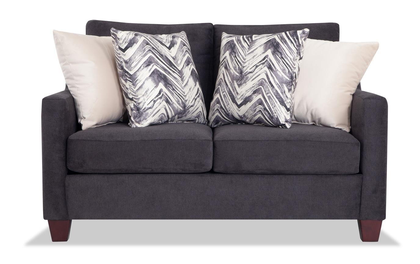 Serene Black Bob-O-Pedic Queen Sleeper Sofa & Loveseat