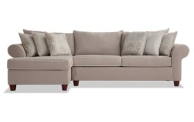 Ashton Khaki 2 Piece Right Arm Facing Sectional