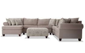 Ashton Khaki 5 Piece Right Arm Facing Sectional