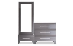 Amalfi Platinum Dressing Mirror with Two Chests
