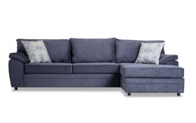Odin Navy Left Arm Facing Sectional