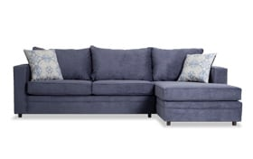 Ivan Navy Left Arm Facing Sectional
