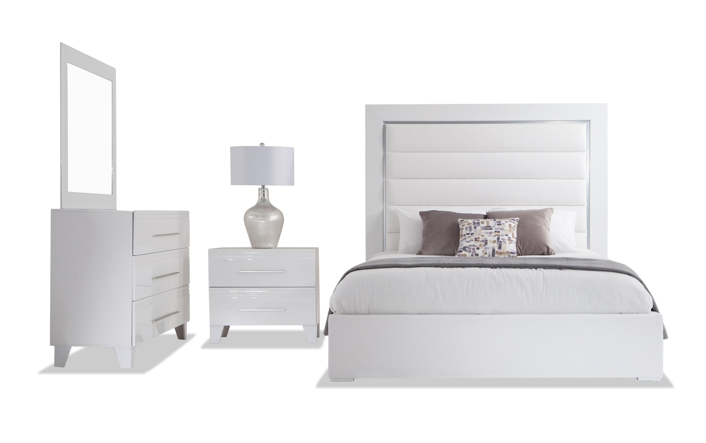 Picture of: Amalfi Queen White Bedroom Set Bobs Com