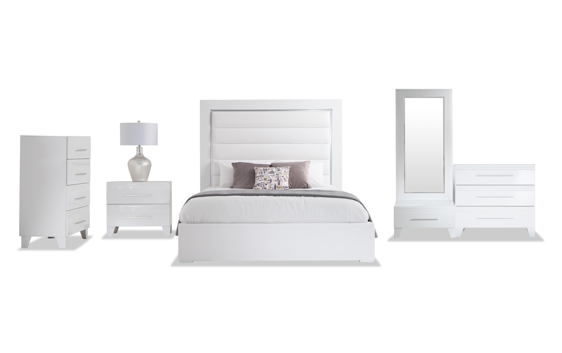 Amalfi Queen White Bedroom Set Bobs Com