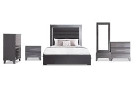 Amalfi King Platinum Bedroom Set