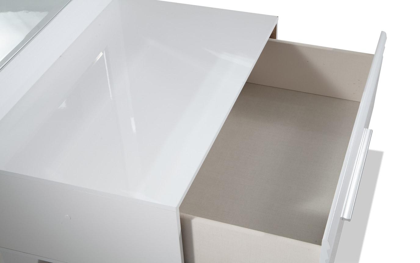 Amalfi King White Bedroom Set