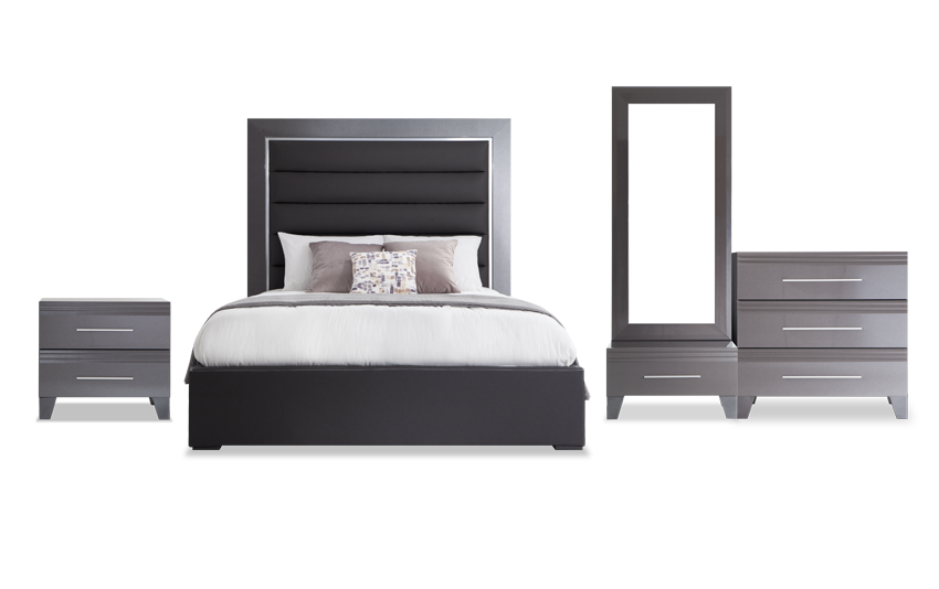 Amalfi Queen Platinum Bedroom Set