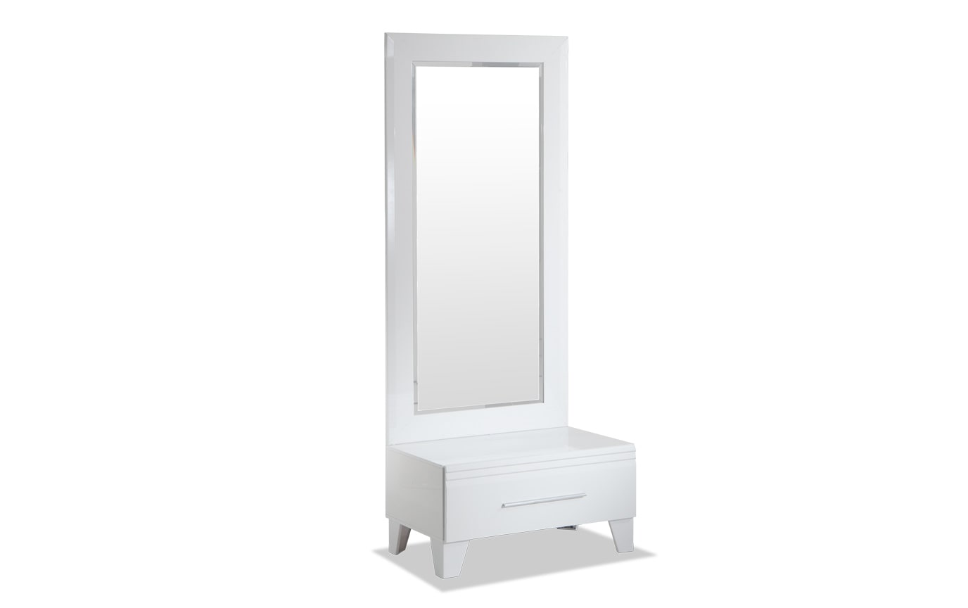 Amalfi White Dressing Mirror and Chest